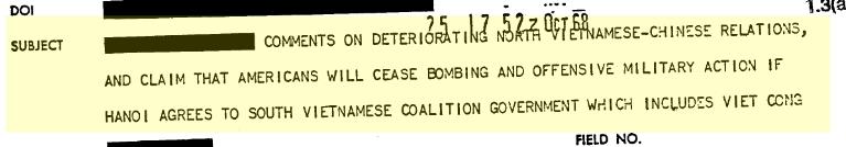 Tài liêu CIA, September 5, 1968.