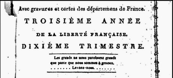 Báo Révolutions de Paris, Năm thứ ba, 1791.  Nguồn: http://books.google.com