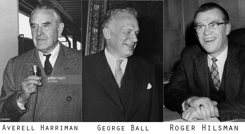 Theo lời của TT Kennedy, 3 nhân vật chủ trương đảo chánh chính phủ Ngô Đình Diệm là A. Harriman, George Ball, Roger Hilsman và được Michael Forrestal ủng hộ