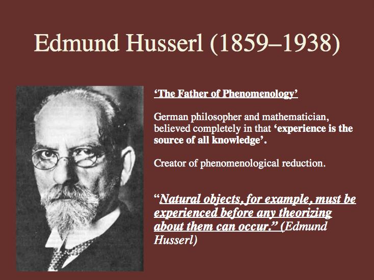 Edmund Husserl, triết gia trường phsi Hiện tượng học, ưa Nhận thức luận, Toán học