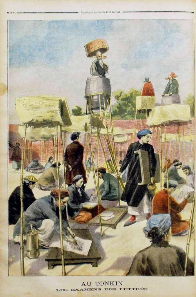 Trường thi Hà Nội. Nguồn: Le Petit Journal-28 juillet 1895.