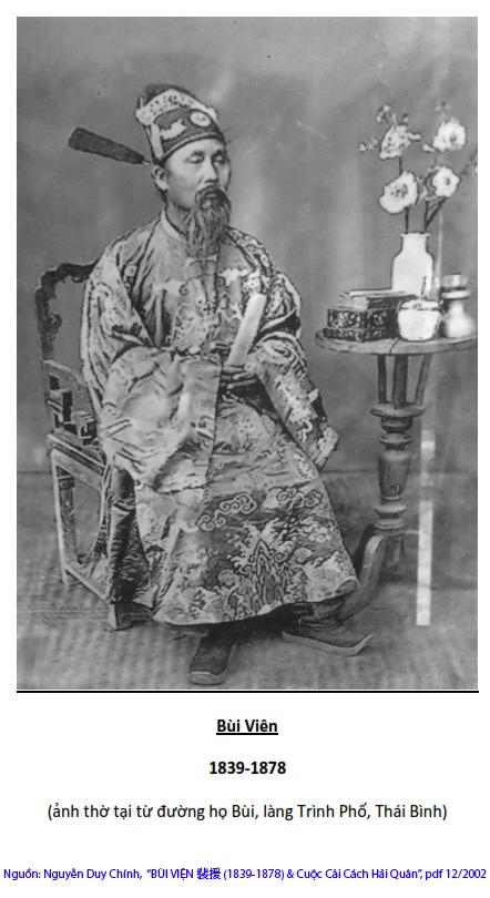 """Nguồn: Nguyễn Duy Chính, """"Bùi Viện 裴援 (1839-1878) & Cuộc Cải cách Hải quân"""", 2002"""