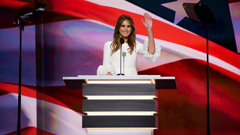 Melania Trump phát biểu tại Đại hội toàn quốc của đảng Cộng hòa. Nguồn: Scott Feschuk