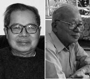 Hai gs chủ trương biên tập Tạp chí Đại Học: Nguyễn Văn Trung (t), và Trần Văn Toàn (p)