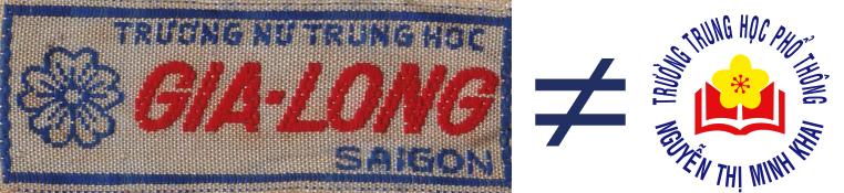 Phù hiệu Nữ Trung học Gia Long Saigon và Tung học Phỏ thông Nguyễn Thị Minh Khai Tp. Hồ Chí Minh. Nguồn:  CVOnline
