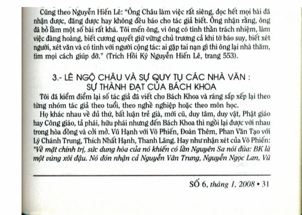 Nguồn Tân Văn Số 6, tháng 1, 2008. Trang 31