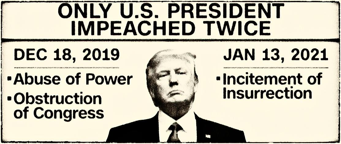 Tại Bạch Cung một mình Trump im lặng ngồi xem bị luận tội lần thứ nhì